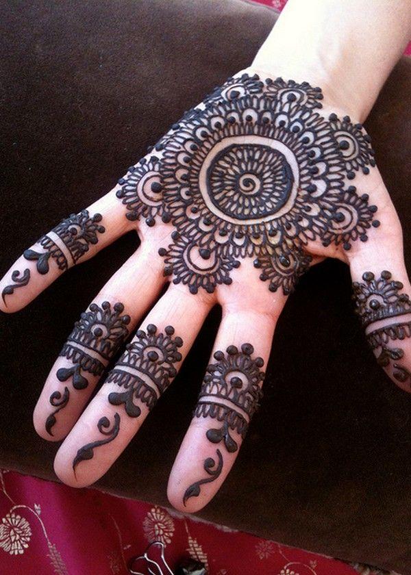 Henna Designs For Women: 2016 Simple Circle Mehndi Designs For Girls
