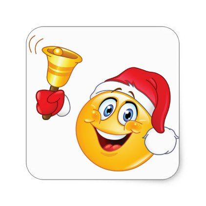 Christmas Sticker With Imogi Santa Claus Square Sticker Zazzle Com In 2020 Christmas Emoticons Funny Emoticons Smiley