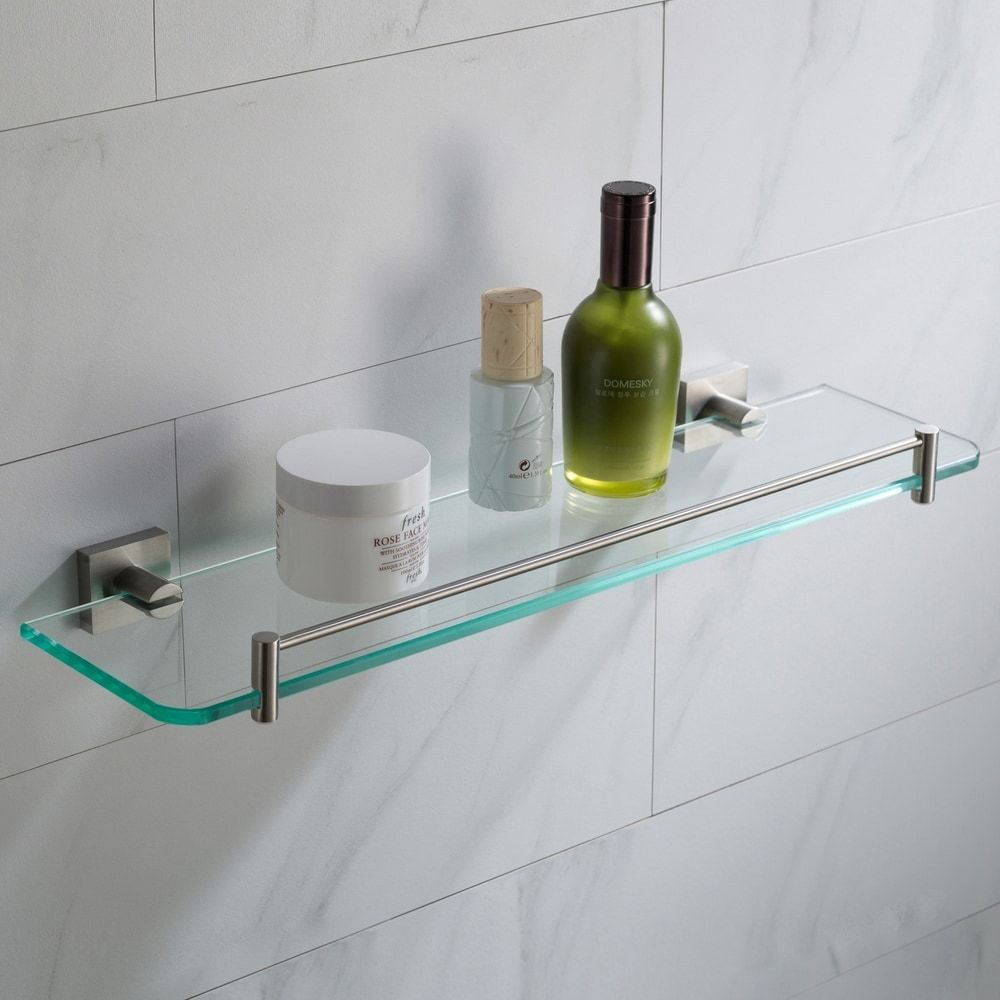 Kraus Ventus Kea 17745 Bathroom Shelf In Chrome Brushed Nickel