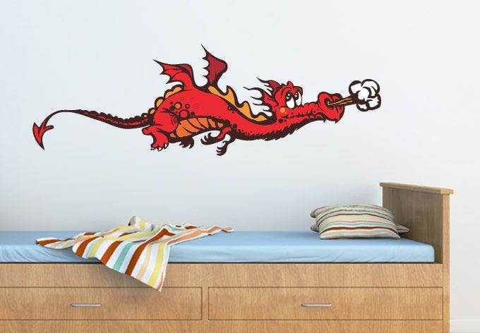 wall decals - cute dragon wall sticker - awesome nursery wall decor