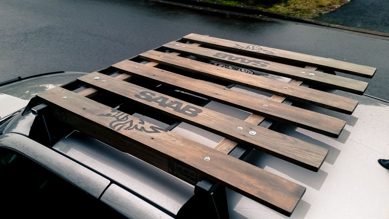 Wood Roof Rack Inspired By A Saab Parts Usa Shipping Pallet Saabcentral Forums