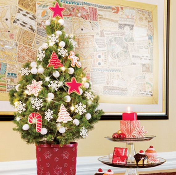 Miniature Tabletop Christmas Tree Decorating Ideas Tabletop