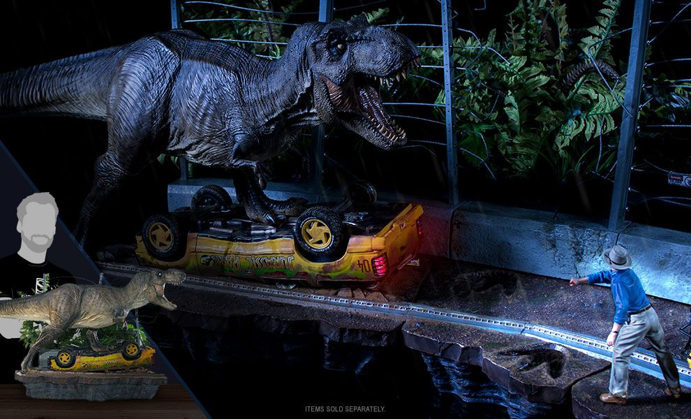 4b6568aad41 The T-Rex Attack (Set A) 1:10 Art Scale Statue is available at ...
