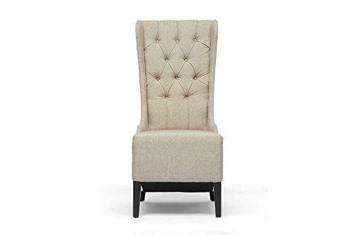 Best Traditional Accent Chair In Beige Linen Fabric Accent 400 x 300
