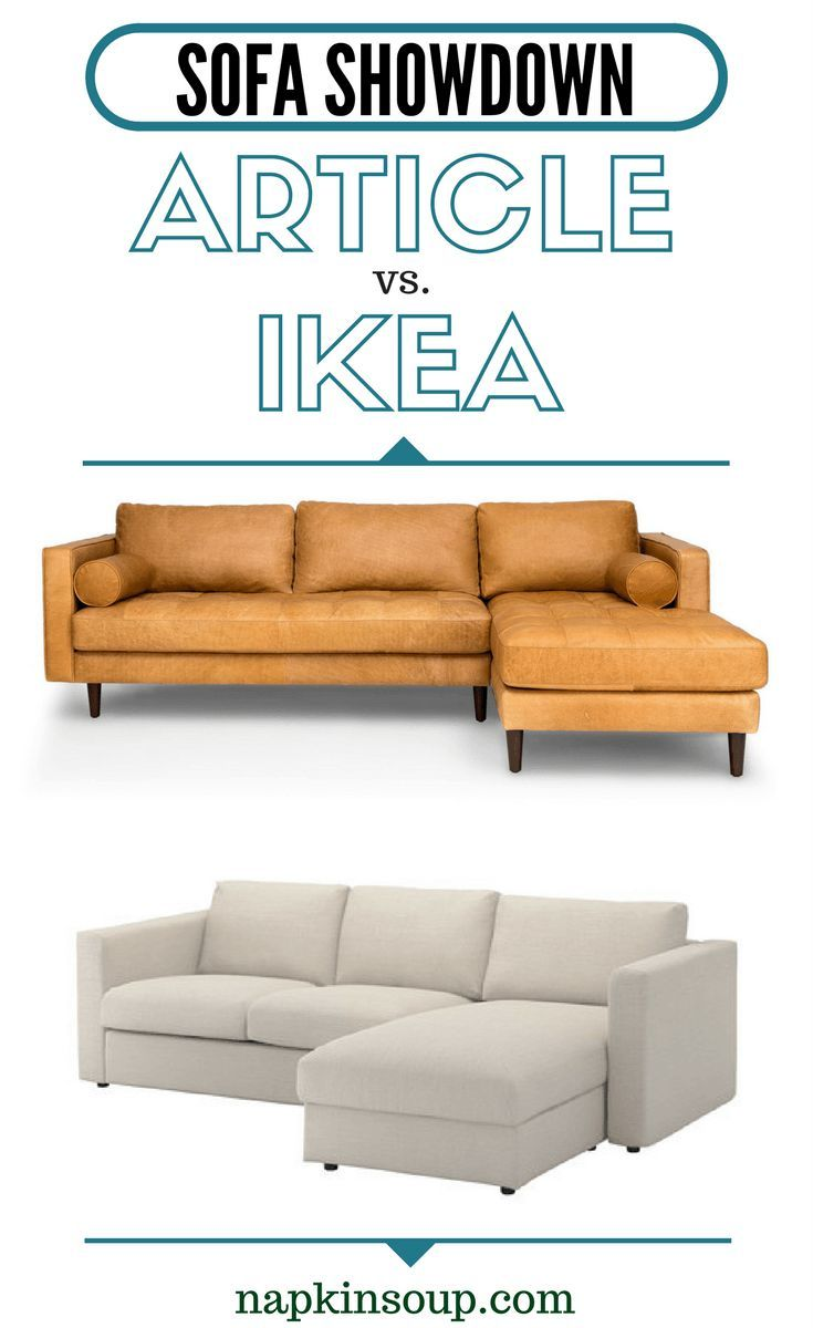 Sofa Showdown Article Sven And Tan Leather Vs Ikea Vimle And