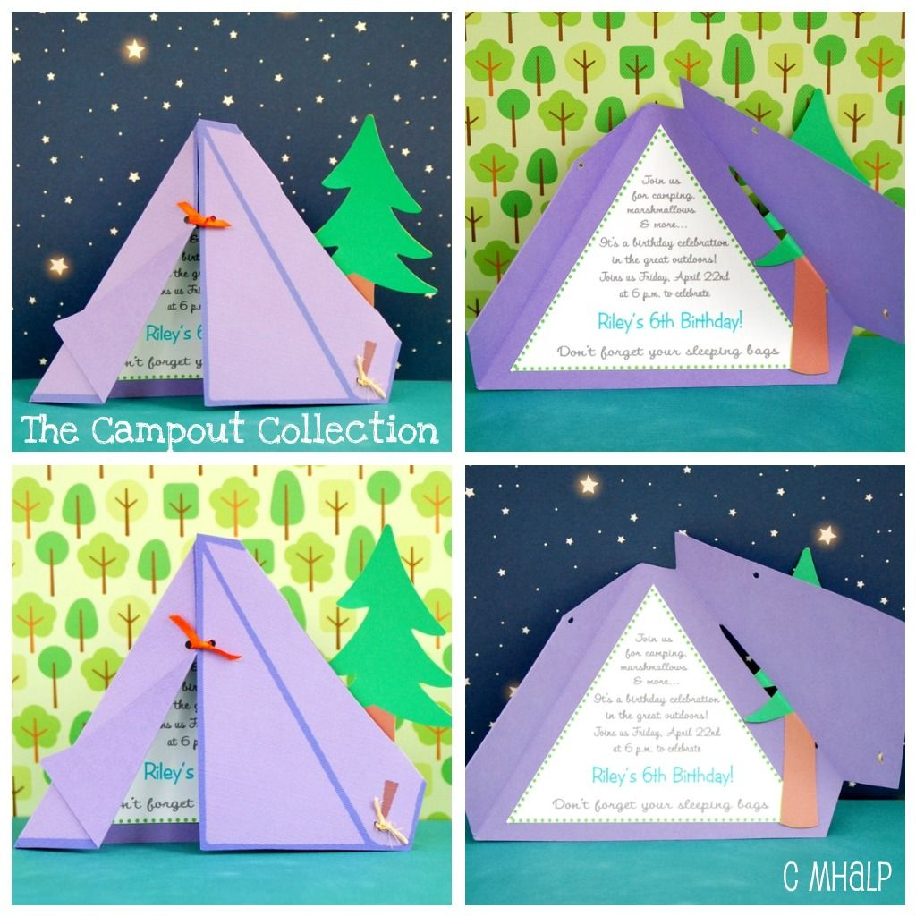 Cute Tent Invite Idea   Maybe For A Camping Themed Birthday Party?