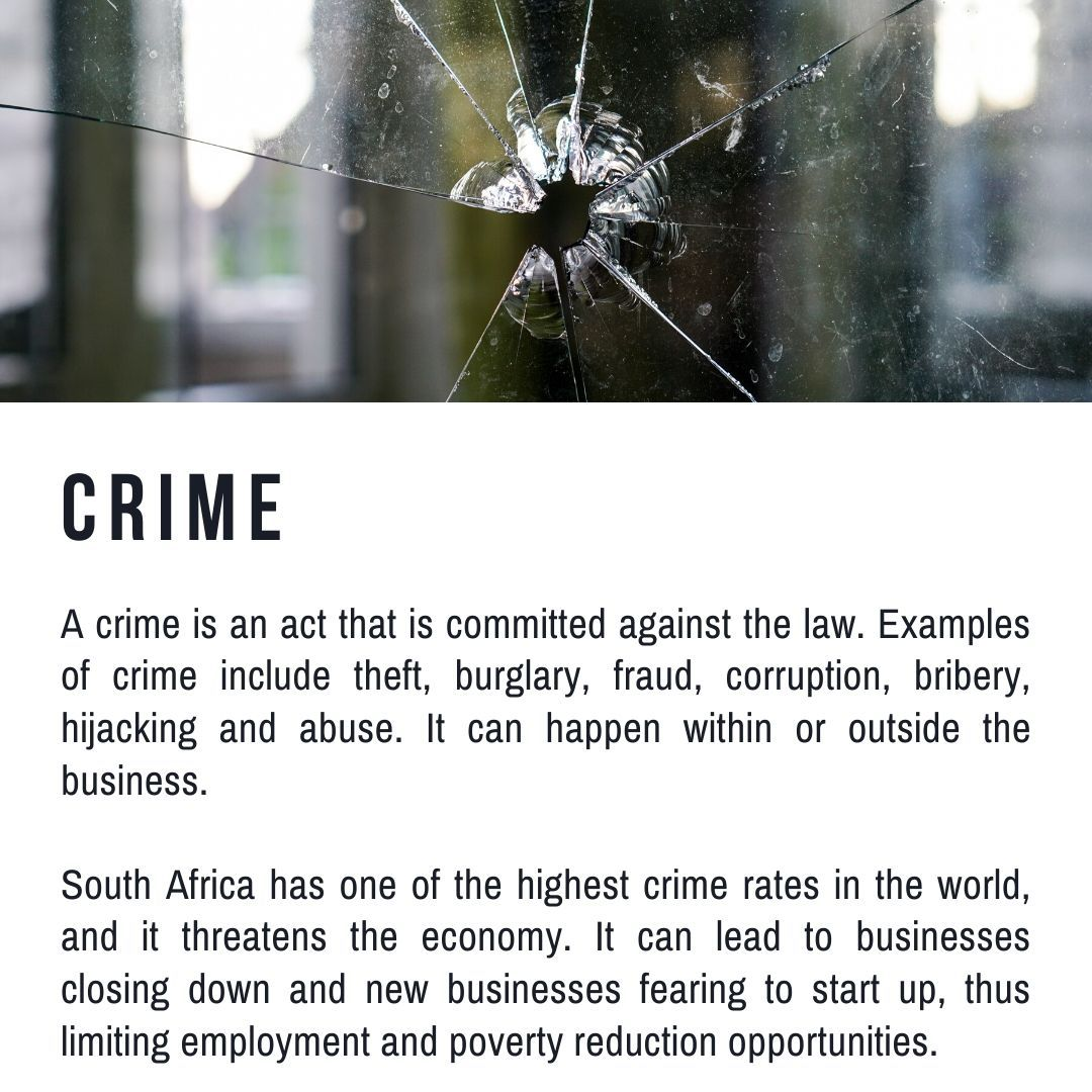 Crime Contemporary Socio Economic Issues South Africa Business Studies Grade 10 Term 2 Caps Business Fear Business Studies Human Rights Definition