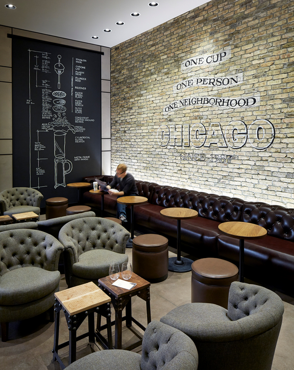 Starbucks Coffee on in 2020   Cafe seating, Restaurant seating, Cafe interior design