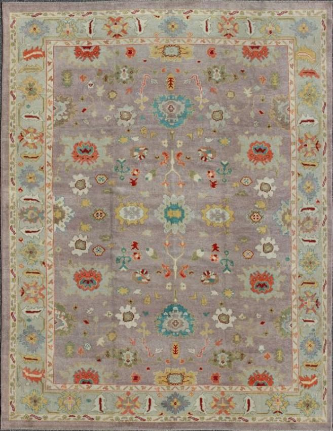 "KEIVAN WOVEN ARTS,  Type :Oushak Origin :Turkey  Size : 10'5""x13'4"""
