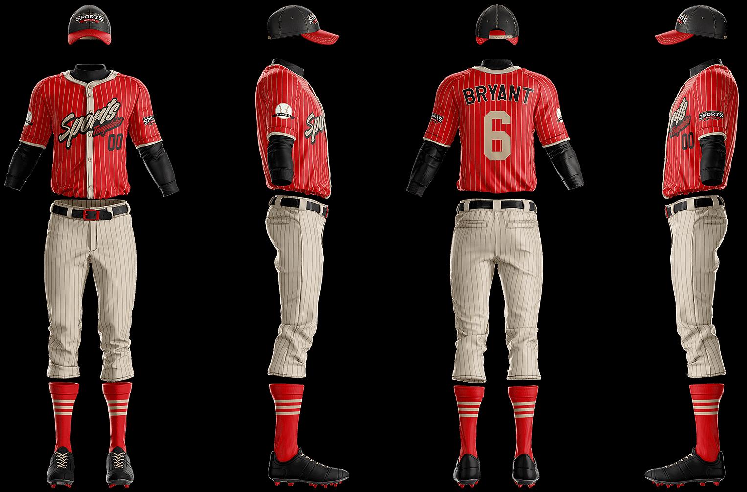 grand slam baseball uniform template sports mockups psd