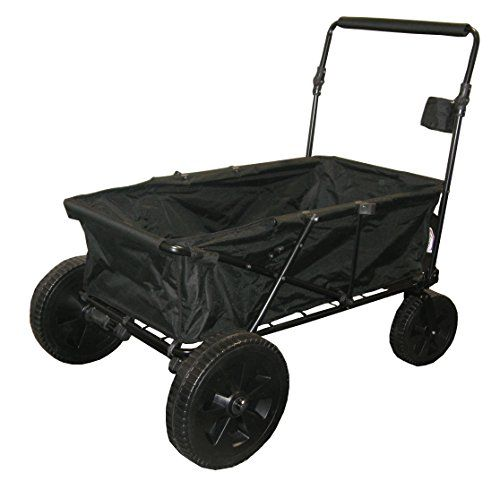 Impact Canopy Maxima Folding Wagon Collapsible Utility Beach Cart Wagon  (Black) Impact Canopies Http