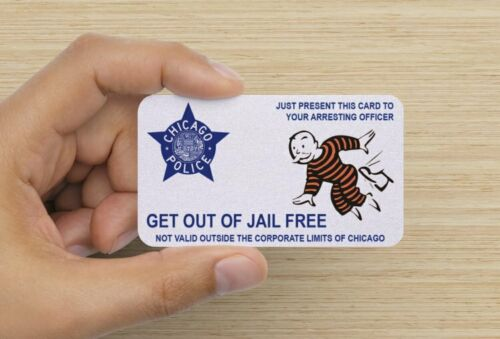 Chicago Police Department Get Out Of Jail Free Card Ebay Police Department Jail Chicago