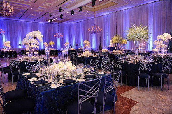 Idee Deco Salle Mariage Bleu Mariage Decor Fleurs