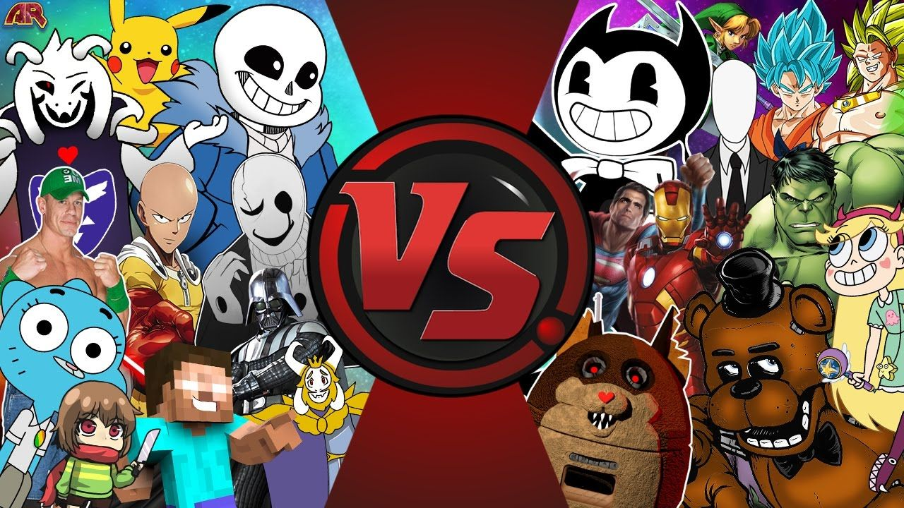 UNDERTALE Vs BENDY Vs FNAF Vs ANIME Vs CARTOONS & MORE