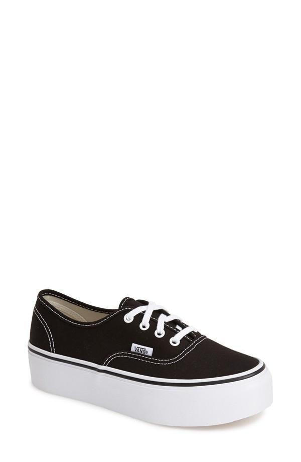 18b44ab6f63c39 Shop 10 Cool Pairs of Platform Sneakers for Spring - Vans Authentic   Platform Sneaker