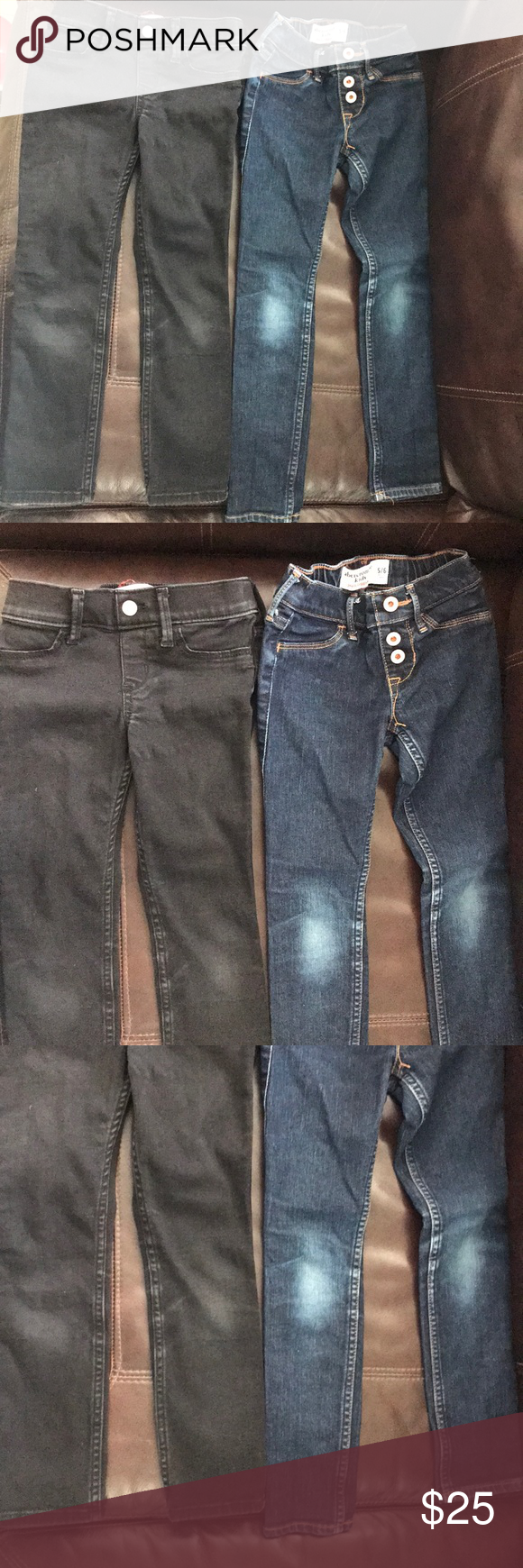 Set of Abercrombie Jean leggings (pull up) This listing includes two pairs  of jean leggings. These have been well loved with plenty of life left in  them. No ... 83b8c1cbd7c
