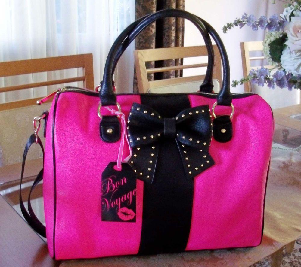 Betsey Johnson Hopeless Romantic Fuchsia Pink Mini