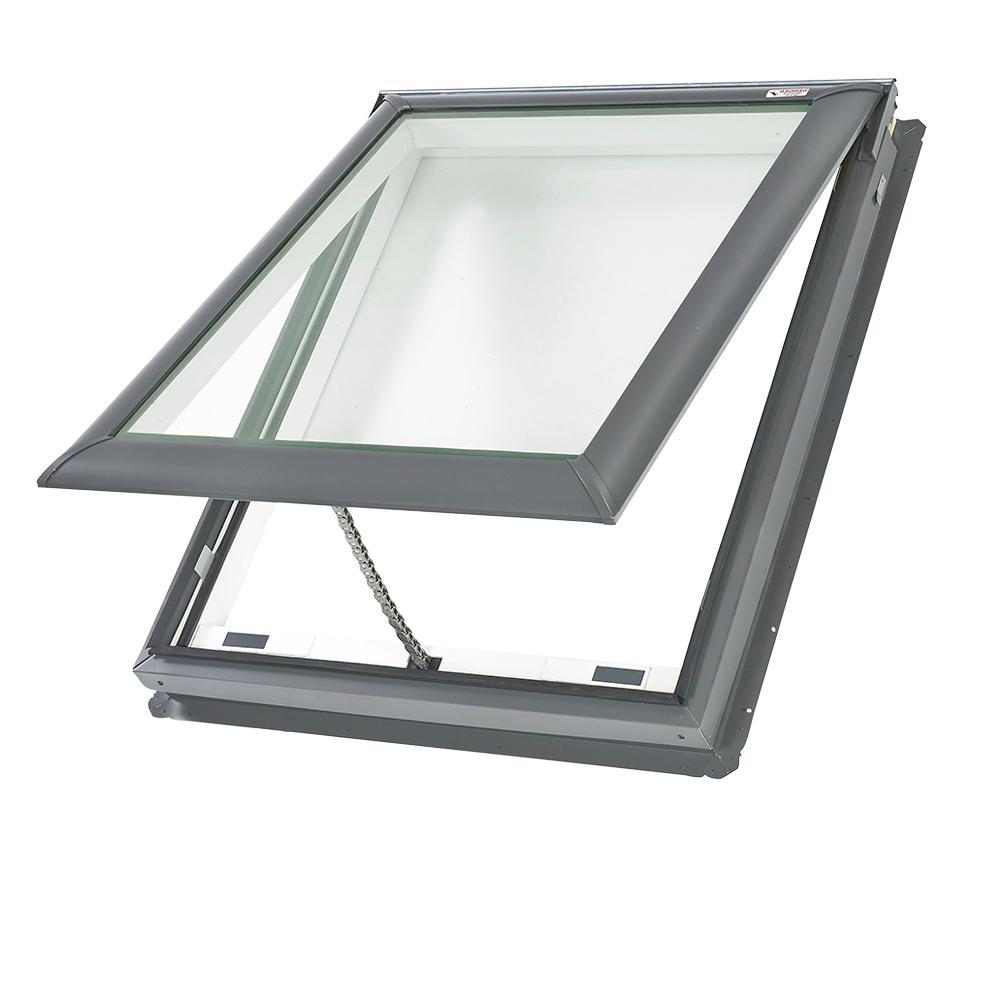 Velux 21 X 54 7 16 In Frischluftentluftung Oberlicht An Deck Mit Laminiertem Low E3 Glas Vs C08 2004 The Home Depot In 2020 Oberlicht Entluftung Schwingfenster