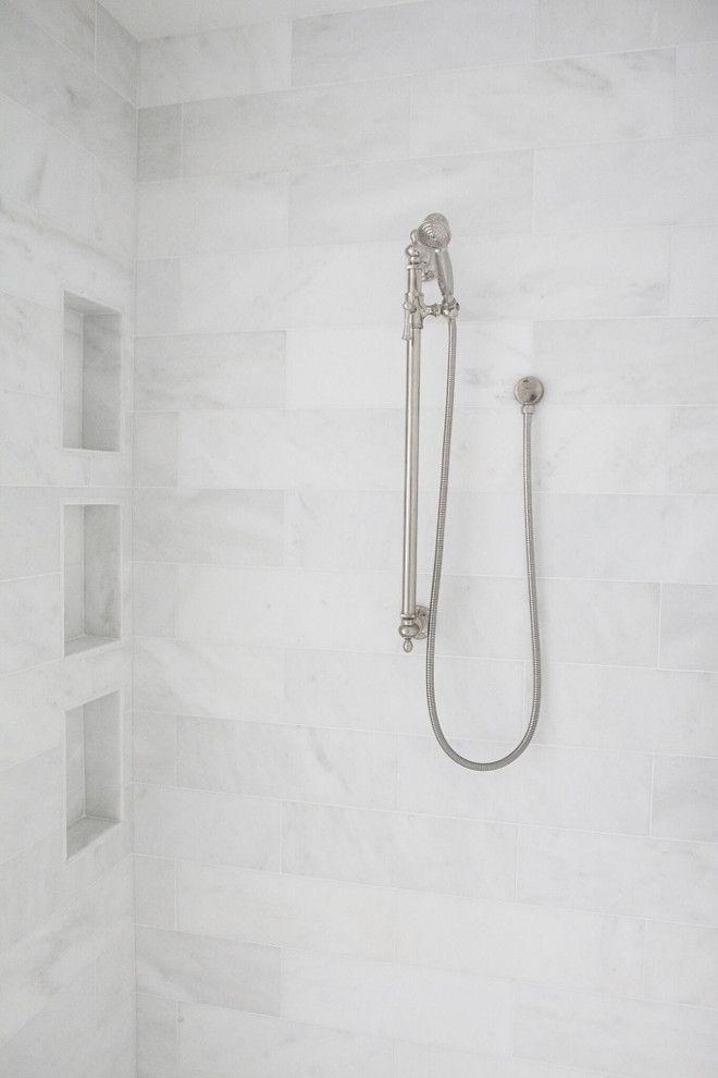 Shower Tile Shower tile ideas Shower walls feature 16x18 Statuario