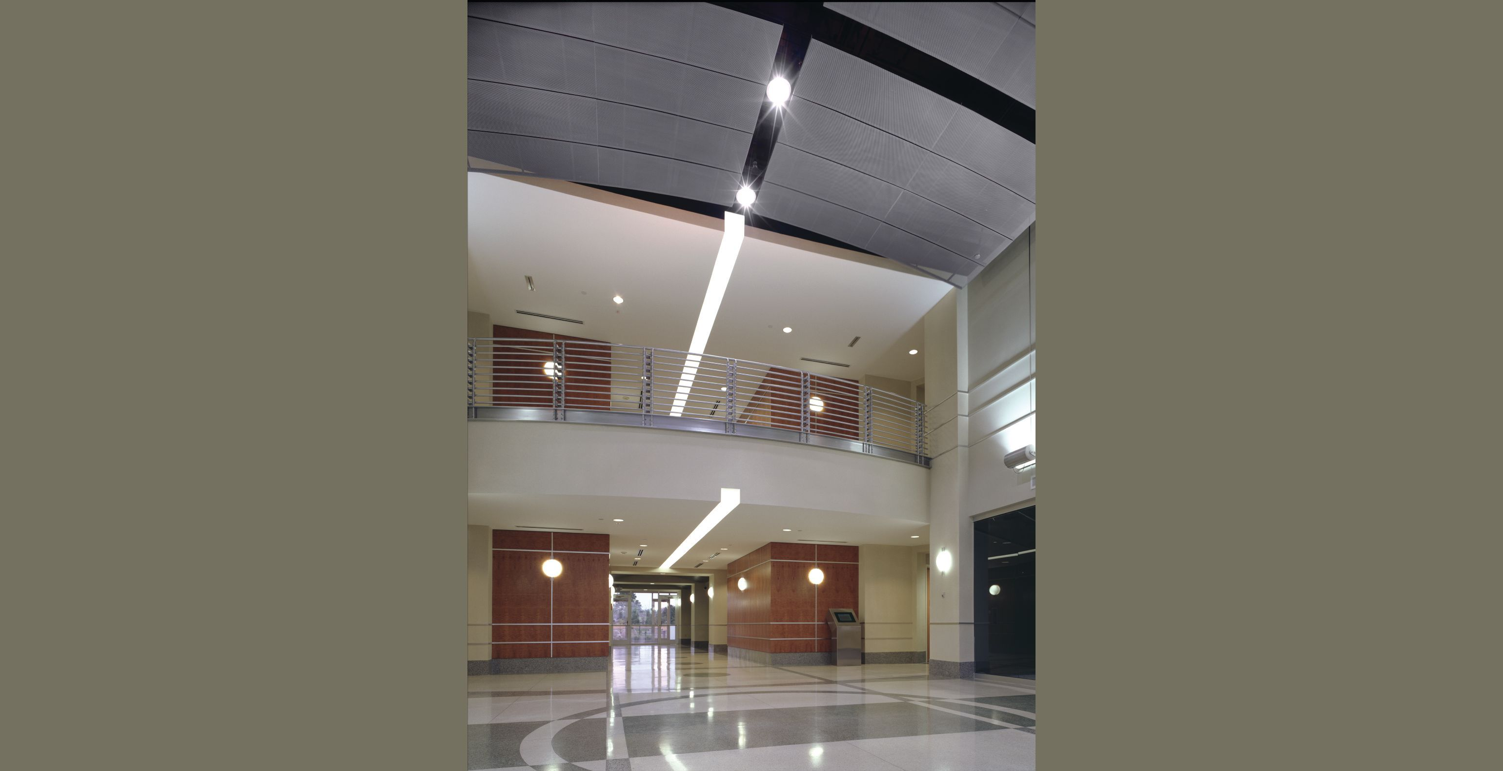 Commercial Ceiling and Wall Systems Idea u0026 Photo Gallery - Armstrong - Lighting integrated within perforated & Commercial Ceiling and Wall Systems Idea u0026 Photo Gallery ... azcodes.com