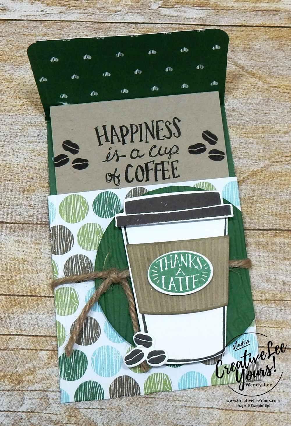 Thanks A Latte Slider Gift Card Holder