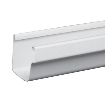 Amerimax Home Products 5 In X 10 Ft White Traditional Vinyl Gutter M0573 The Home Depot Vinyl Gutter How To Install Gutters Gutter