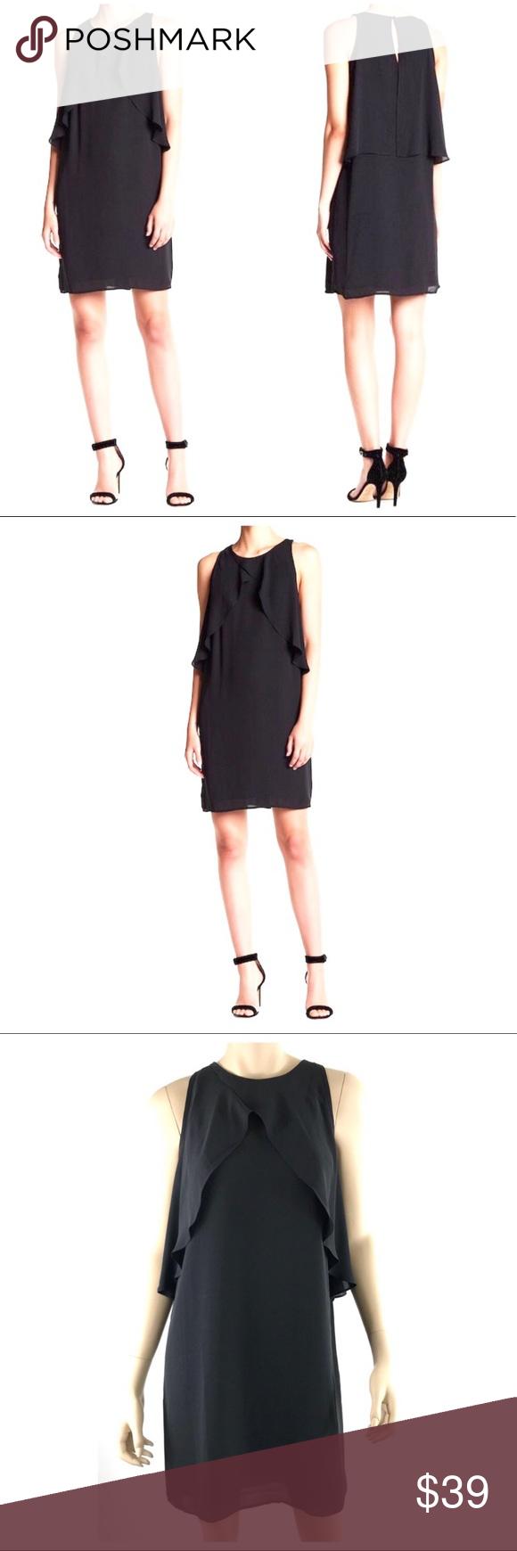 Vince Camuto Chiffon Flutter Drape Overlay Dress New With Tags Vince Camuto Lbd Dress Elegant Feminine Little Black Dress Chiff Overlay Dress Fashion Dresses [ 1740 x 580 Pixel ]