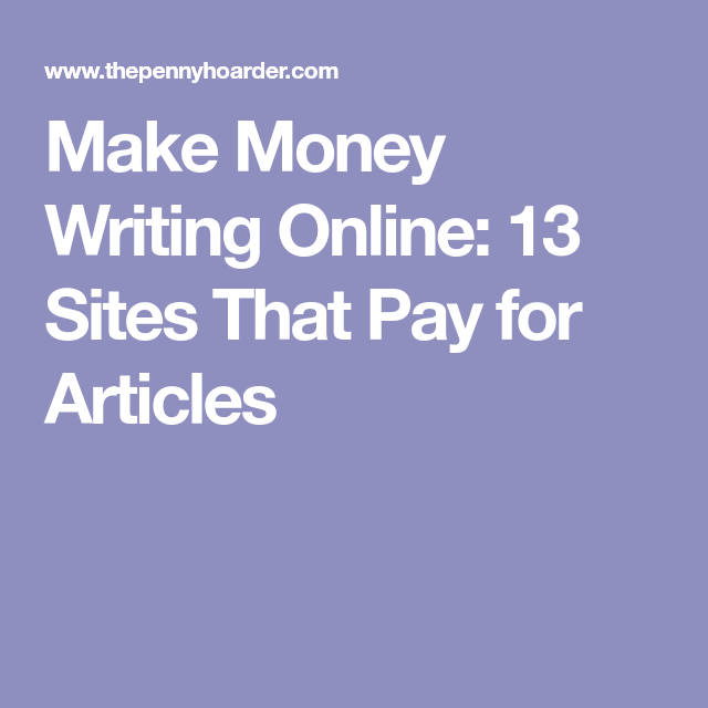writing articles online for money