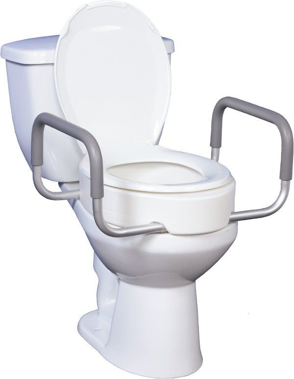Drive Medical Premium Raised Toilet Seat With Removable Arms Use