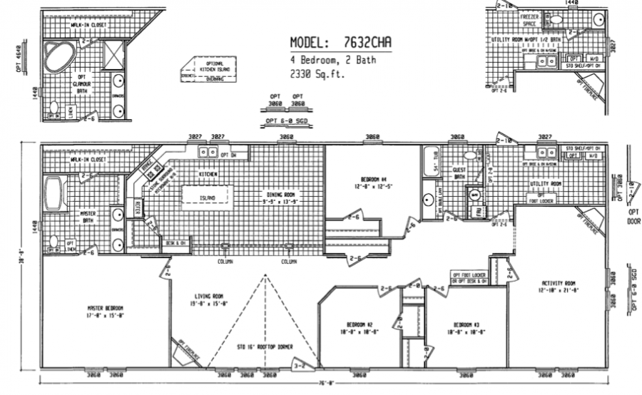 double wide floor plans spacious double wide manufactured floorplans