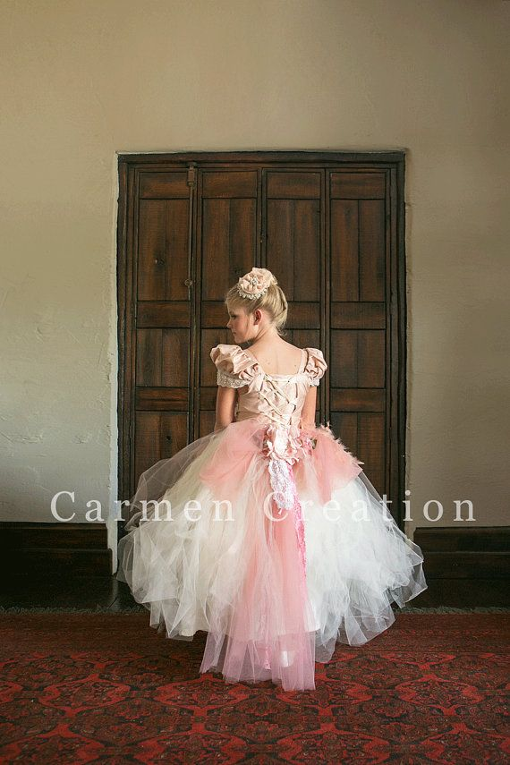 05dfd744d0 Beautiful Flower Girl Dress Blush by CarmenCreation on Etsy