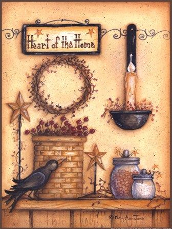 Heart Of The House By Mary Ann June Art Print Free Art