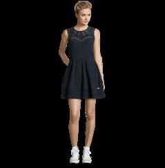Superdry Kleid mit Streifenstruktur und Stickereien ...