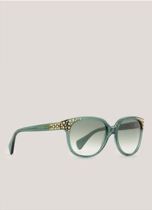39614a24be Alexander McQueen. Studded Round-Frame Sunglasses.