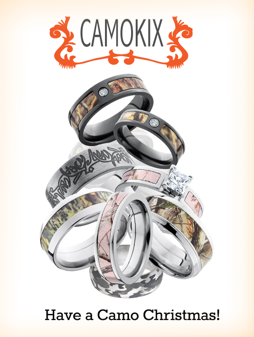 How about camo wedding rings for your camo Christmas camo wedding