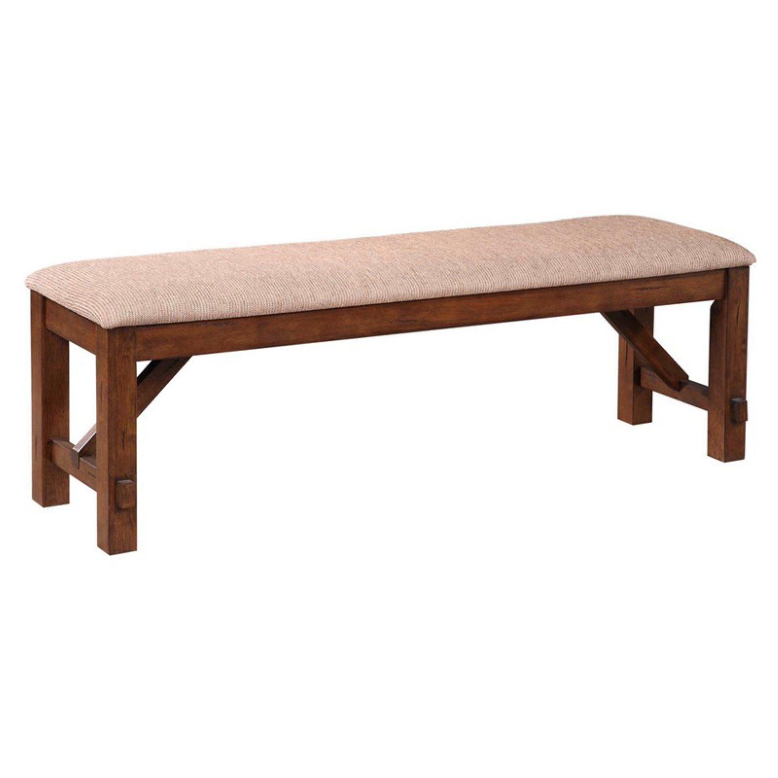 Roundhill Furniture Karven Upholstered Dining Bench