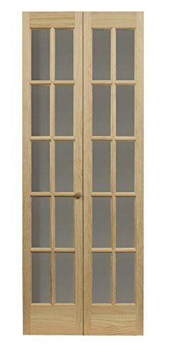 Amazoncom Pinecroft 852726 Traditional Divided Glass French Bifold