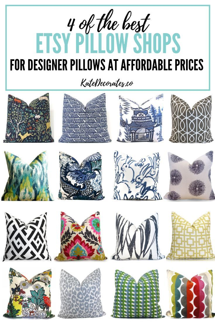 These 4 Best Etsy Pillow Shops Are Awesome For Finding Designer Pillows At Affordable Prices Etsy Throwpillows Etsy Pillow Throw Pillows Diy Throw Pillows