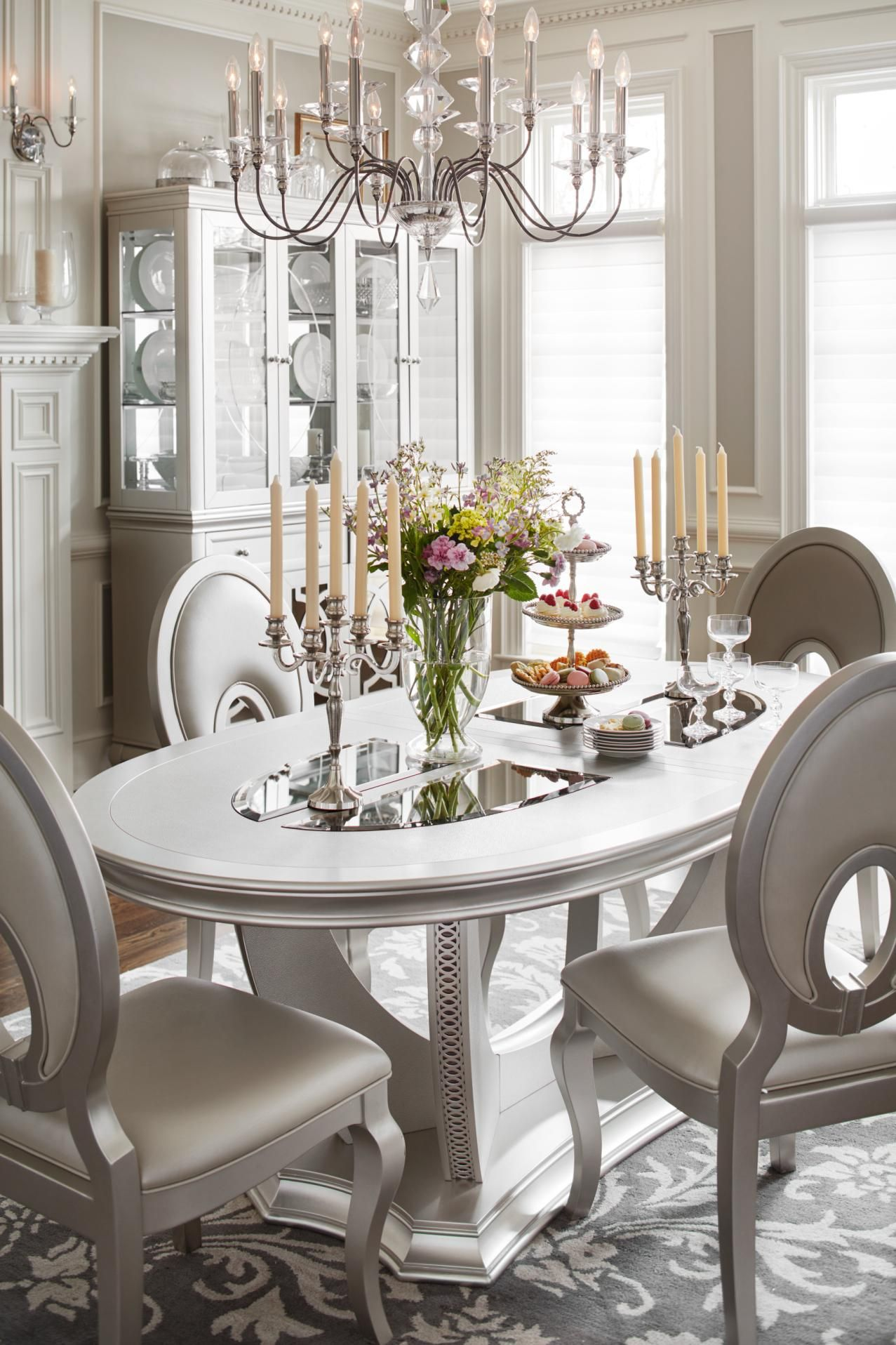A Glam Dining Room Fit For A Queen Our Allegro Collection Is Astounding Dining Room Sets Dining Room Inspiration Dining Room Bar