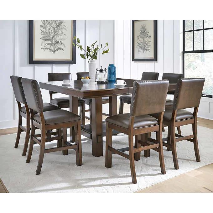 39++ Square to round 7 piece dining set costco Inspiration
