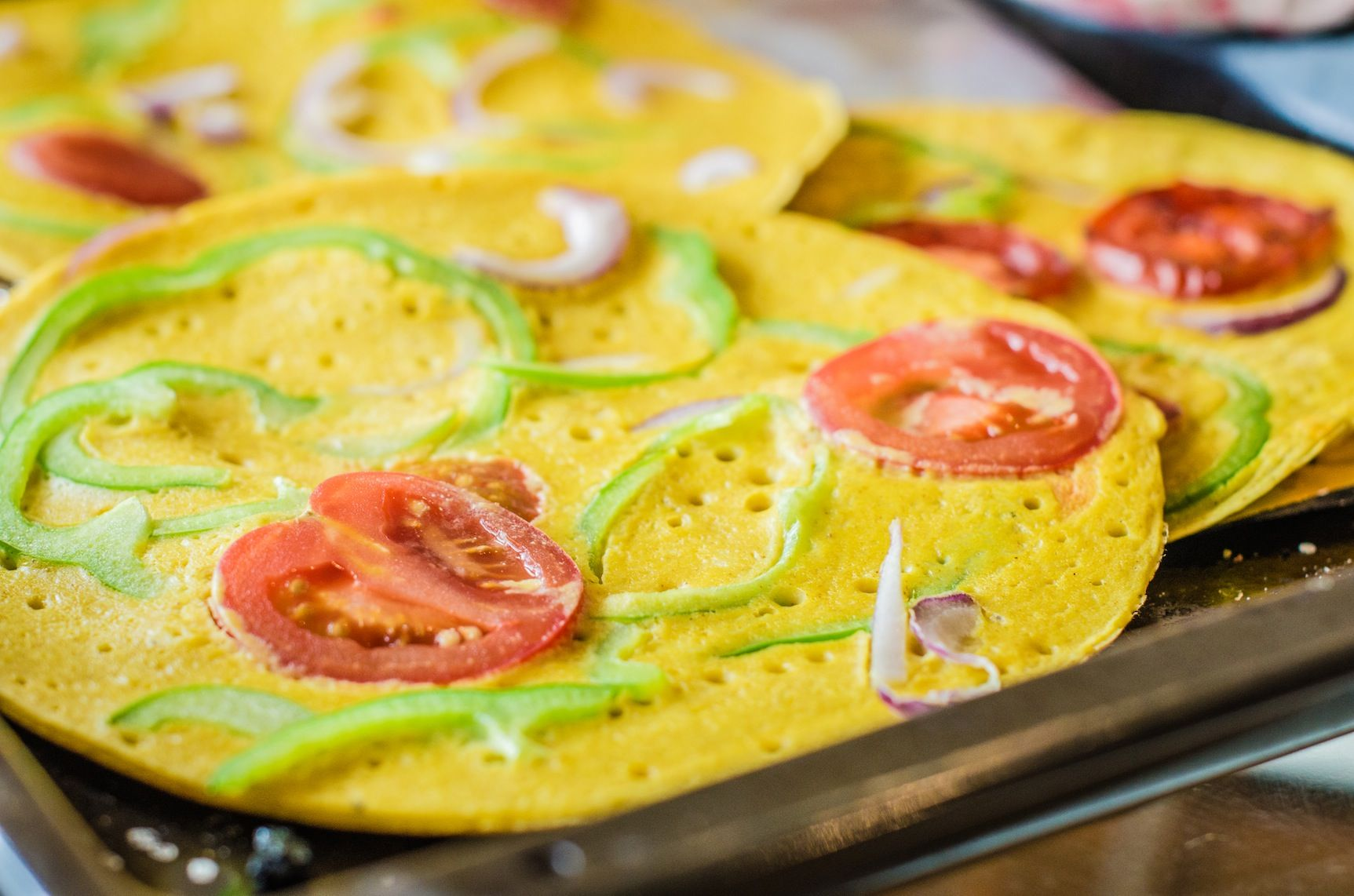 Gram flour is just a superb, under-used ingredient! When you can create these tasty and uber-healthy chickpea omelette beauties, it will become a staple...
