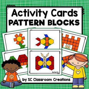 Pattern Block Design Cards Task Cards Pattern Blocks Pattern