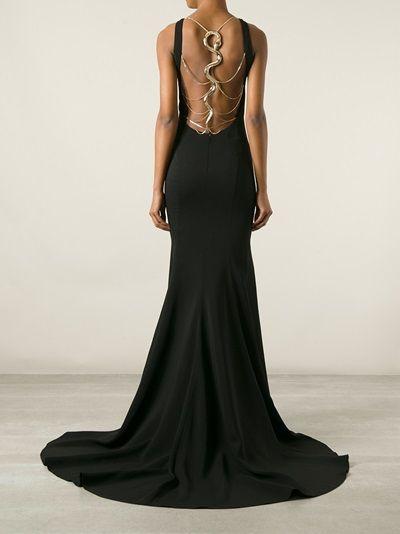 ROBERTO CAVALLI - snake strap back gown 10  a053e24df