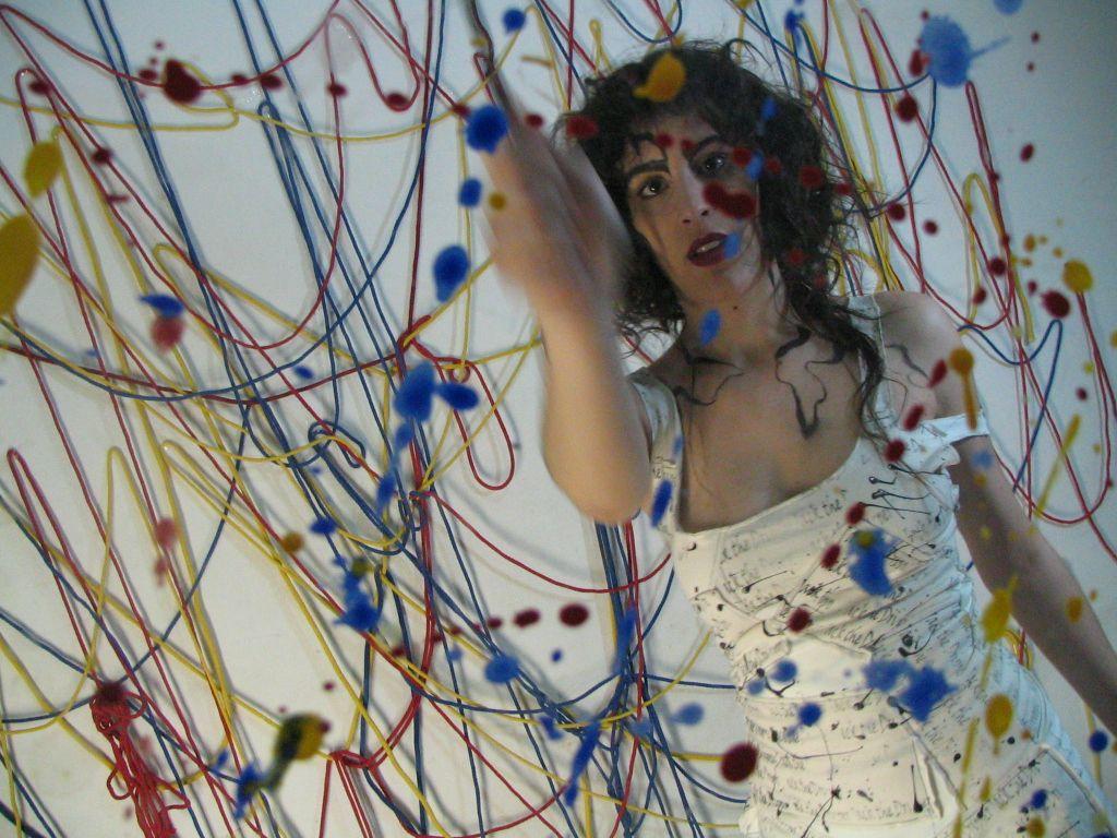 Alumna Cecilia Strada  Diseño I: inspiradas en Jackson Pollock. 5