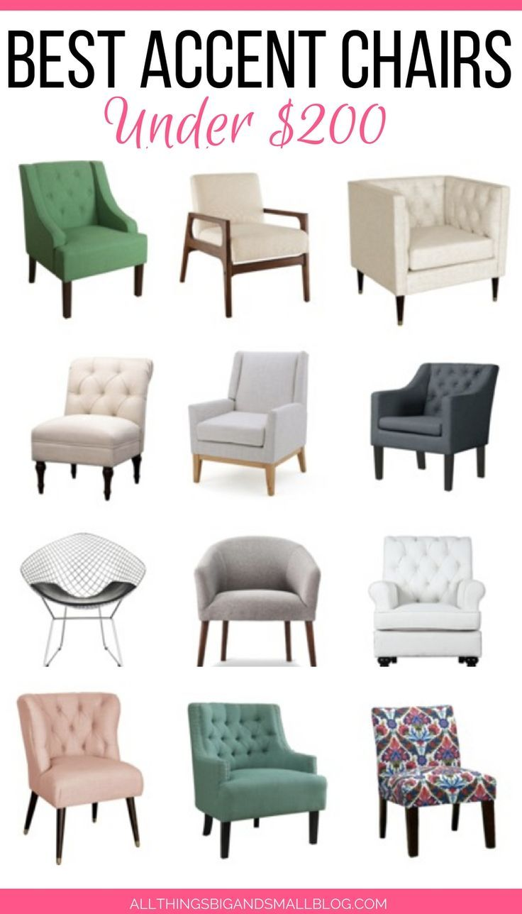 Affordable Accent Chairs: 20+ Stylish Chairs Under $200 | Pinterest ...