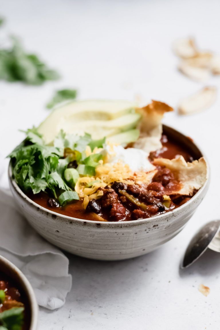 Slow Cooker Poblano Turkey Chili Gluten Free Well Fed Soul Recipe Whole Food Recipes Cooking Recipes