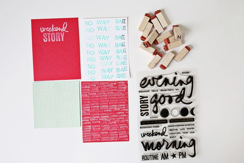 Stamped letters