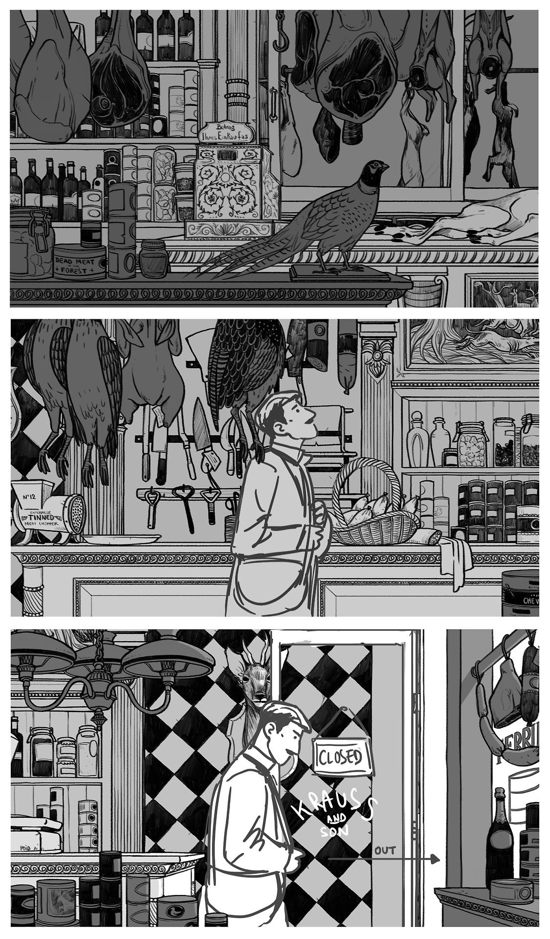 Wow! School work! Super nice layout exercice with Rémi Chayé, director of Long Way North - #background #butcher #dandy #deadmeatoftheforest #design #gobelins #layout