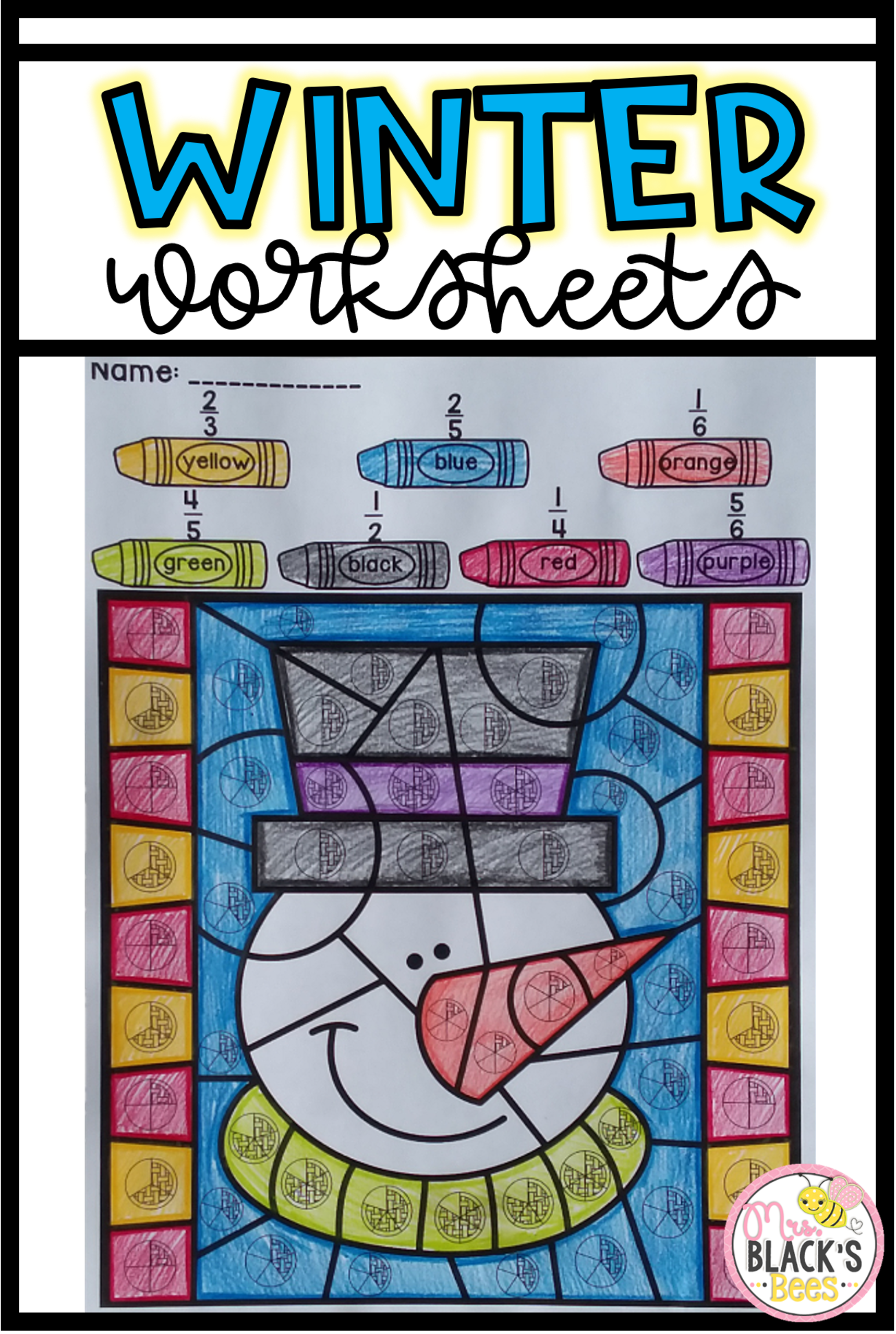 Winter- Color by Code | Morning work, Worksheets and Kindergarten