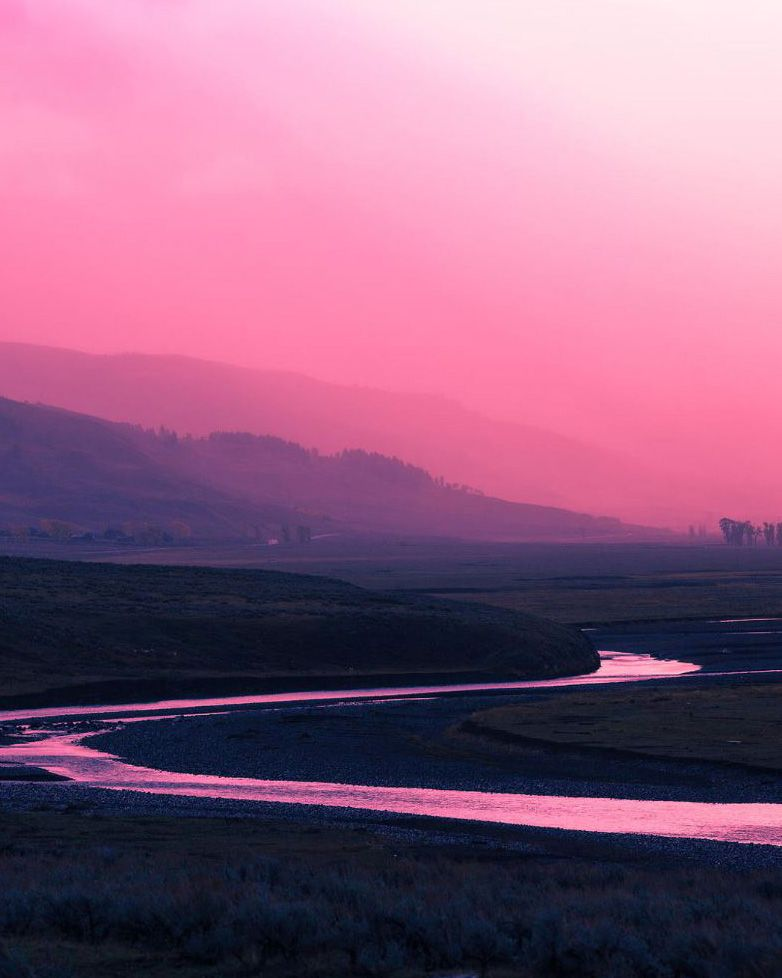 Stairway To Heaven Pink Sky Sunset Mountains Landscape River Sky Landscape Mountain Landscape Stairway To Heaven